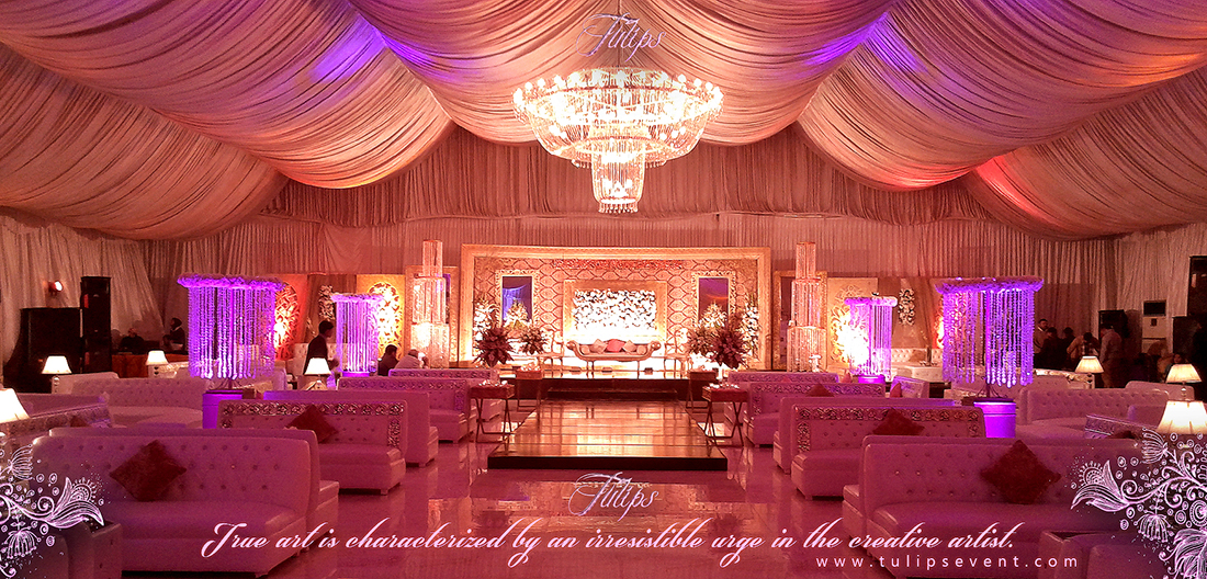 Best walima stage design by tulips event lahore pakistabn for Muslim wedding home decorations