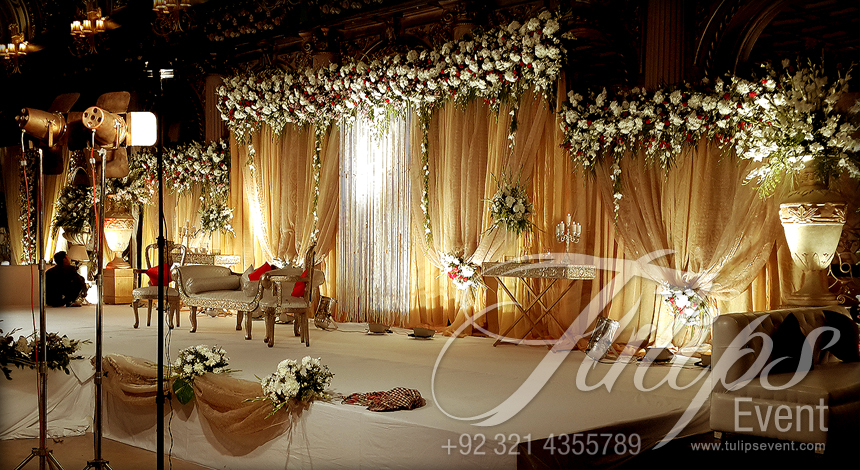Lovely Grand Walima Stage Decoration Setup Planner In Lahore Pakistan 16