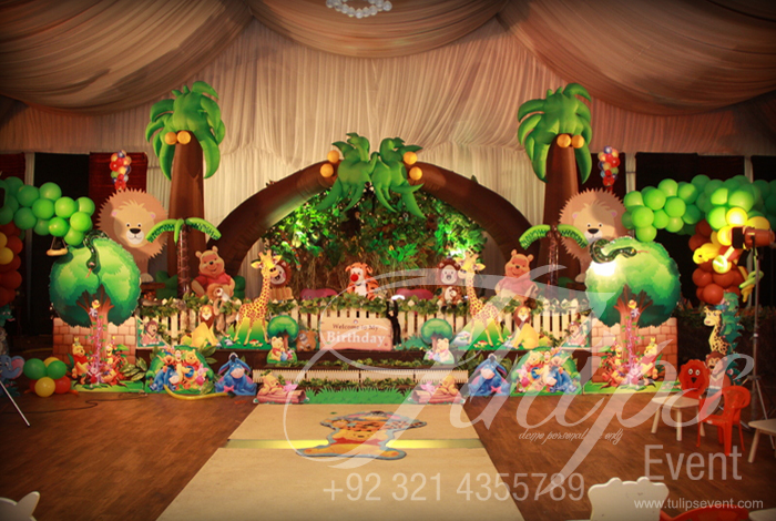 Jungle Birthday Party Tulips Event Management
