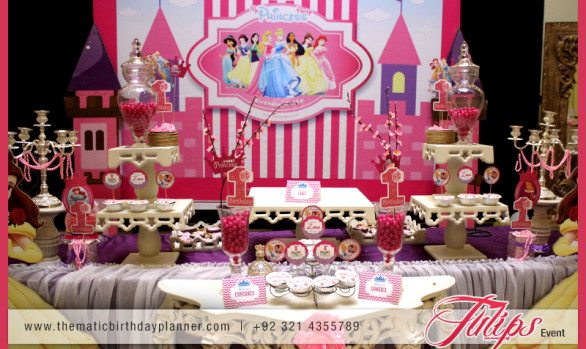 Princess 1st birthday party