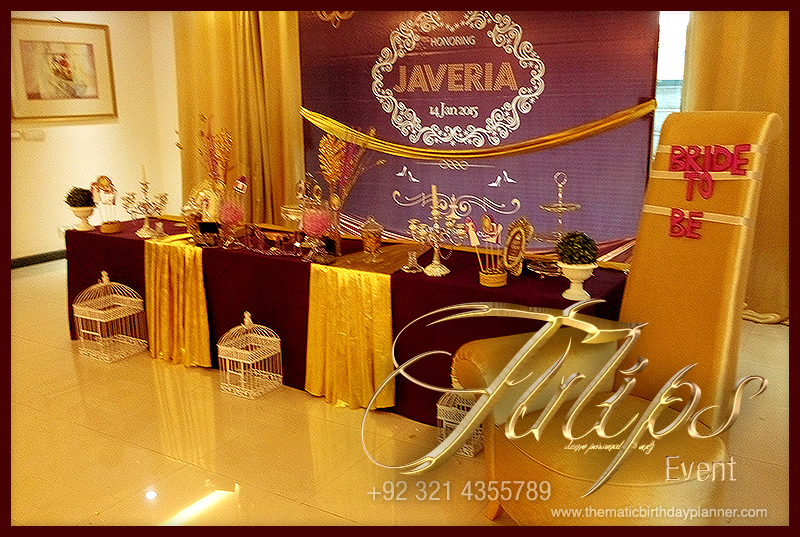 Wedding Gift Ideas Pakistan : Best Bridal Shower Theme Ideas by tulips events in Pakistan