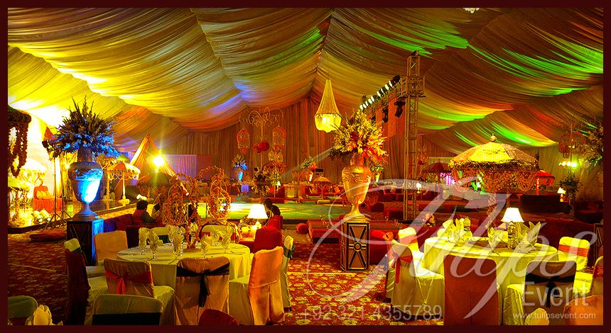Colorful Creative Pakistani Wedding Mehendi Stage Setup