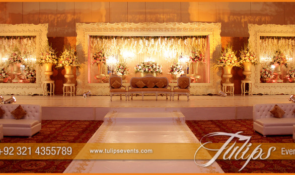 Gold Walima Theme Stage