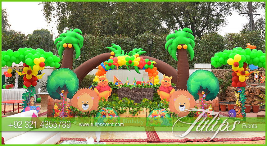 Jungle zoo theme party decoration ideas in pakistan for Animals decoration games