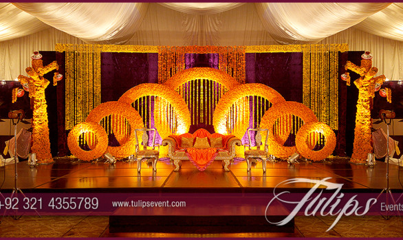 Rings Mehndi Stage Design