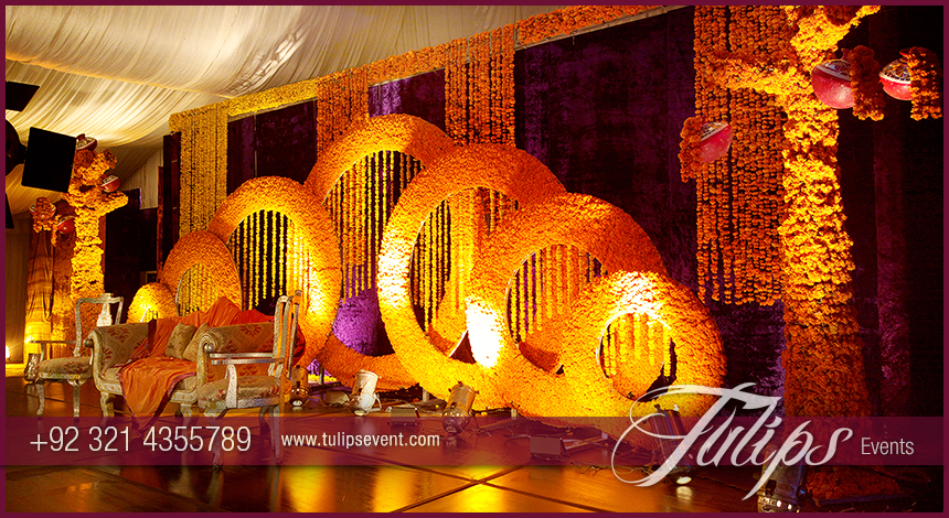 Top Mehndi Stage Design Photos In Lahore Pakistan 04 Tulips Event Management