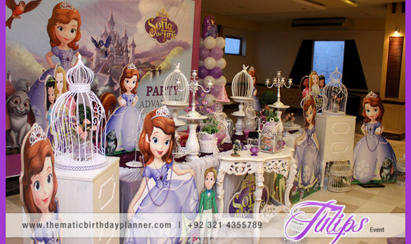 Sofia the first themed party