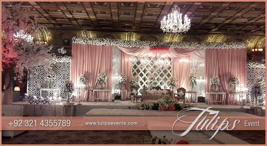 Pink white pakistani wedding stage setup ideas by tulips events leave a comment cancel reply junglespirit Image collections