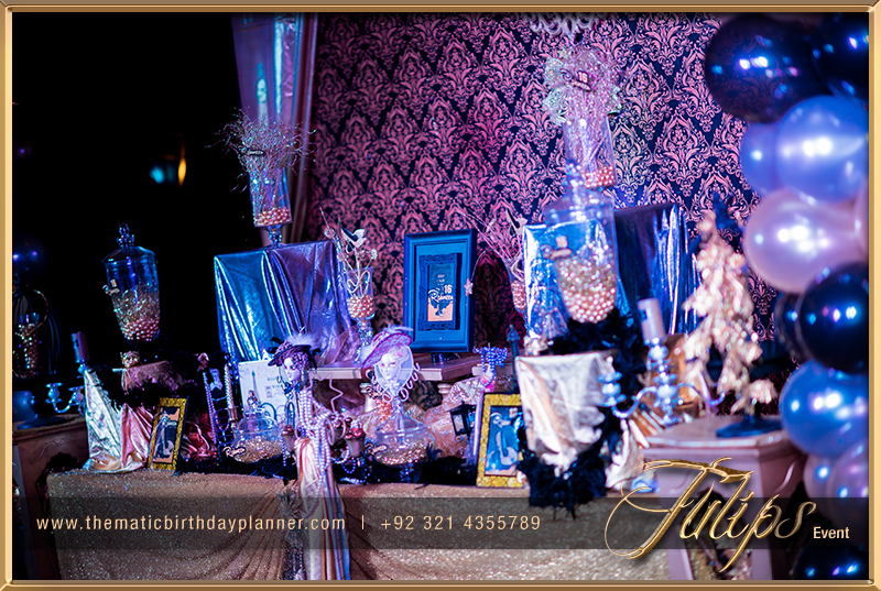 Gold Royal Blue Sweet 16 Themed Party Ideas In Pakistan 04 Tulips