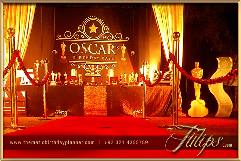 Academy awards party tulips event management for Awards decoration