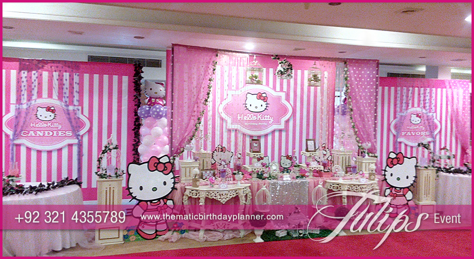 Hello Kitty Themed Party fir Girls by Tulips Events in Pakistan 7