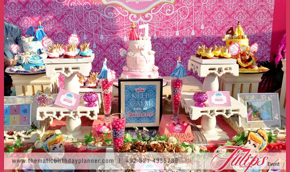 Princess theme party Setup