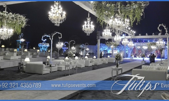 Outdoor Royal White Wedding