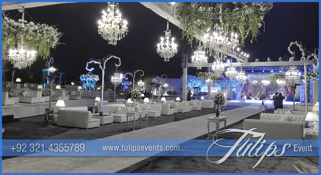 Outdoor Royal White Wedding Tulips Event Management