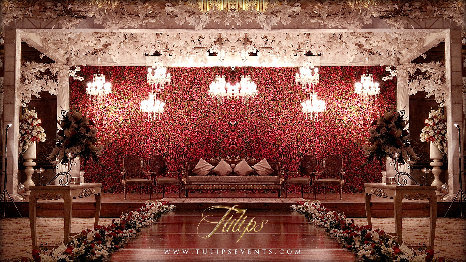 Top wedding stages of 2016 by tulips events management in for Auditorium stage decoration