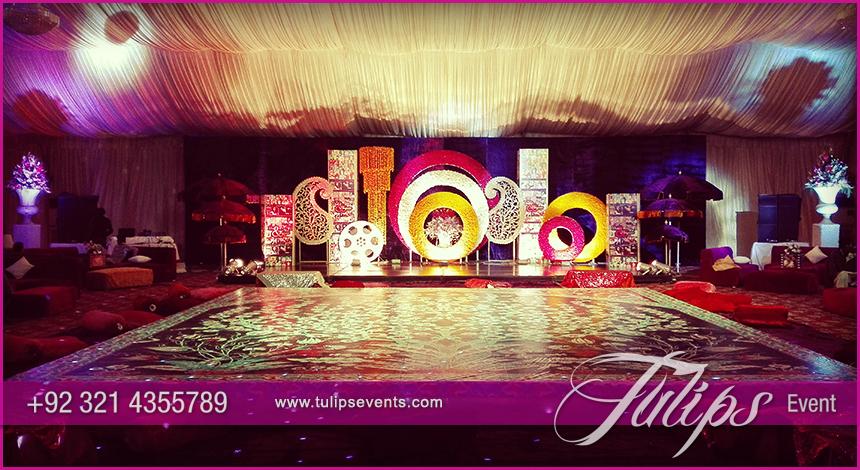 Bollywood night Mehendi Theme Stage decoration ideas in ...