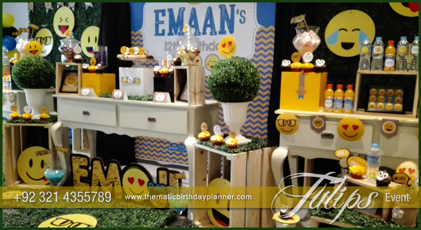 Emoticon Birthday Party Theme ideas tulips events in Pakistan 1