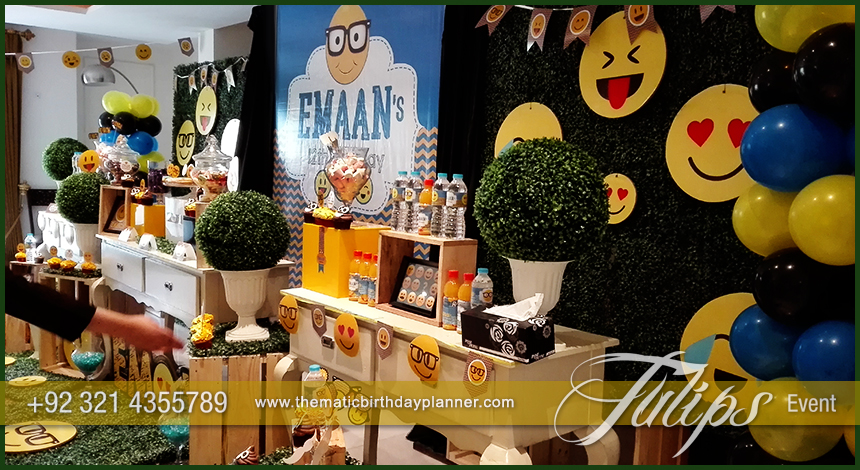 Emoticon Birthday Party Theme Ideas Tulips Events In Pakistan 11