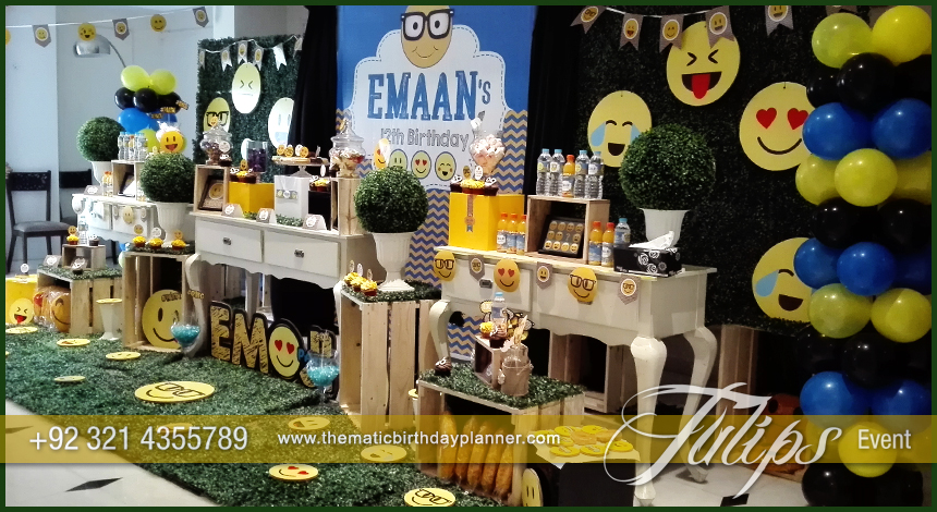 Emoticon Birthday Party Theme ideas tulips events in Pakistan 2