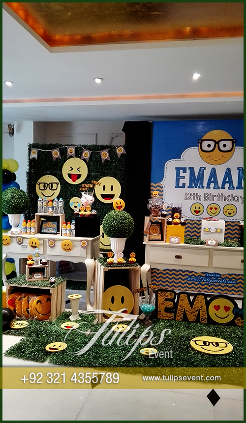 Emoticon Birthday Party Theme Ideas Tulips Events In Pakistan 55