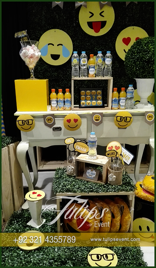 Theme Decoration Ideas Part - 41: Emoticon Birthday Party Theme Ideas Tulips Events In Pakistan (58)