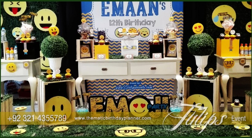 Emoticon Birthday Party Theme