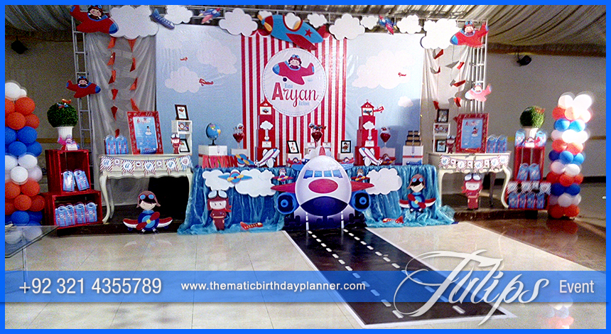 Airplane Birthday Theme Party ideas Tulips Events in Pakistan 12