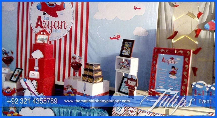 Airplane Birthday Theme Party ideas Tulips Events in Pakistan 13