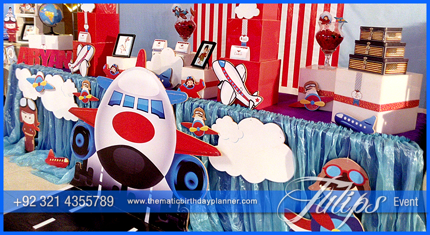 Airplane Birthday Theme Party ideas Tulips Events in Pakistan 14