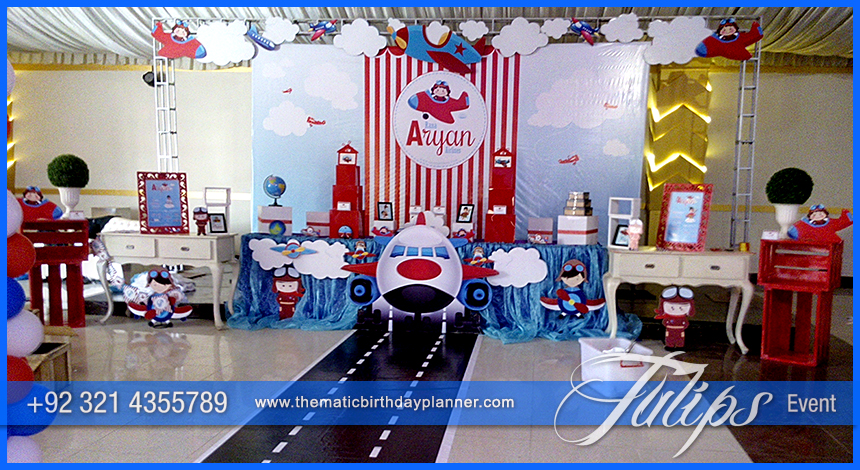 Airplane Birthday Theme Party ideas Tulips Events in Pakistan 19