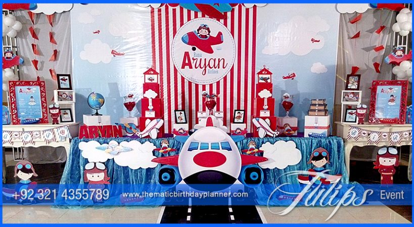 Airplane Birthday Theme Party Tulips Event Management