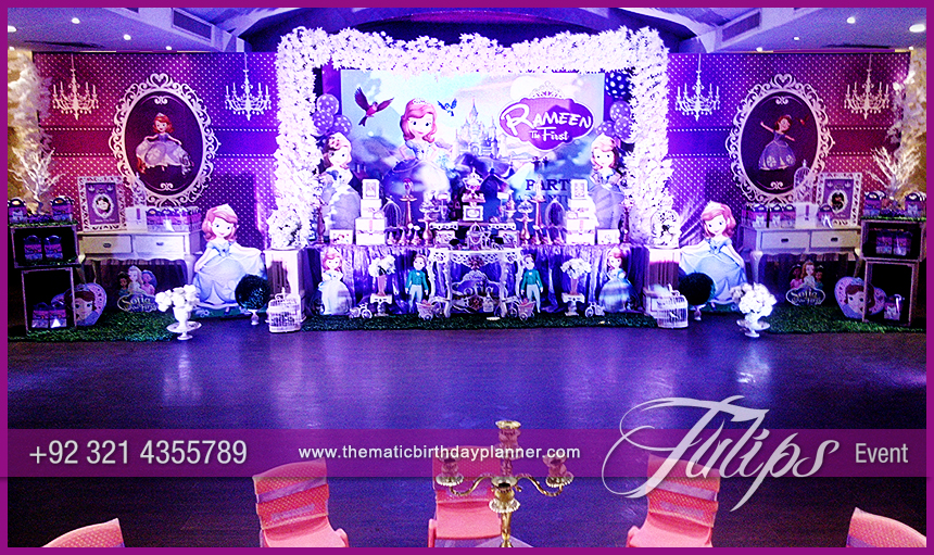 Disney Sofia Themed Birthday Decoration Ideas In Pakistan 7 Tulips