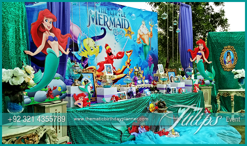 & Mermaid Under the Sea Party ideas by Tulips Events in Pakistan