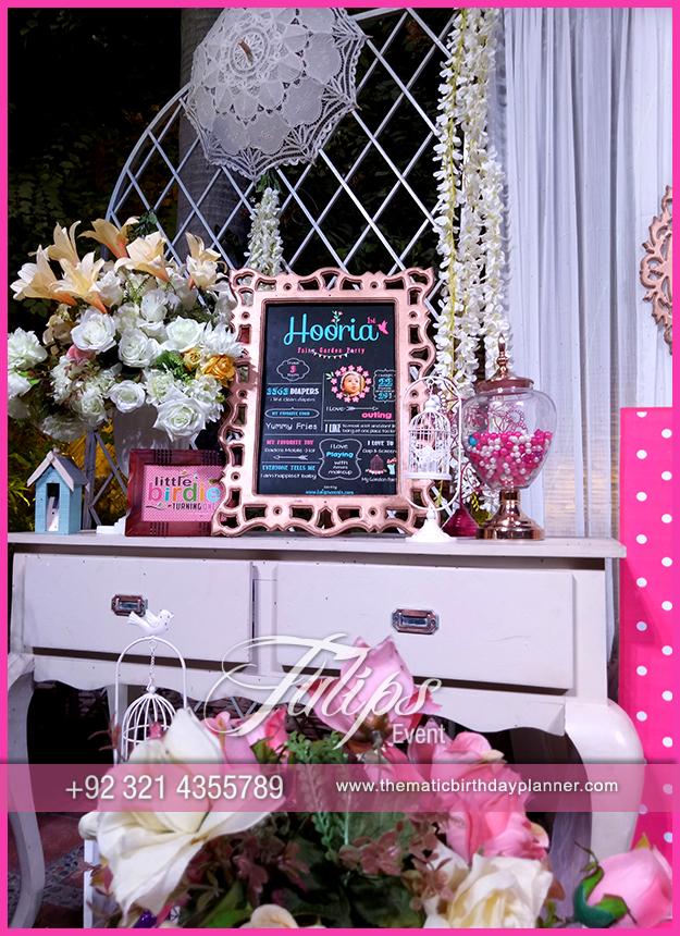 Fairy Garden Themed Birthday Decorations In Pakistan 55