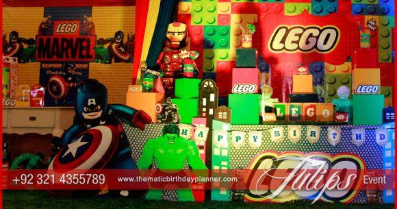 Lego Marvel Themed Party