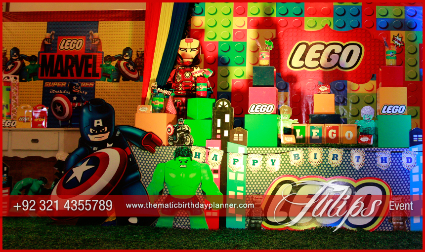 Lego Marvel Themed Party Tulips Event Management