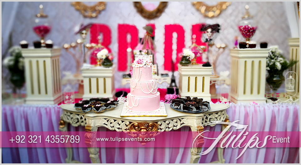 Bridal shower theme party ideas in pakistan tulips event management - Bridal shower themes ...