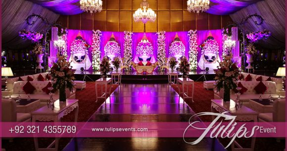 Plum Gold Wedding Reception