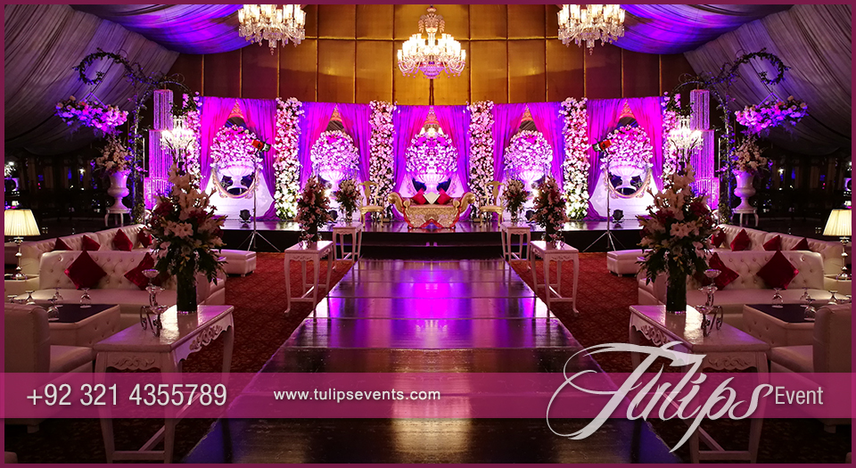 Plum Gold Wedding Reception Tulips Event Management