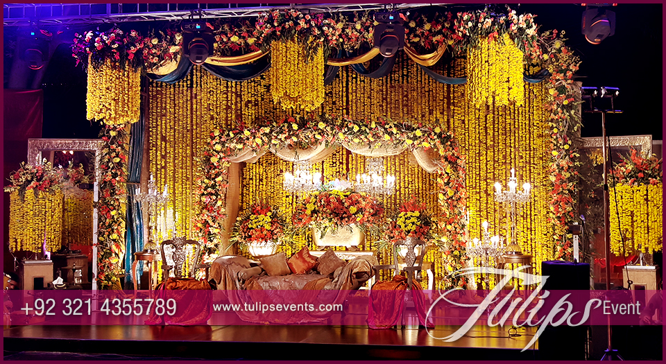 Sangeet Night Stage Decoration Tulips Events In Pakistan
