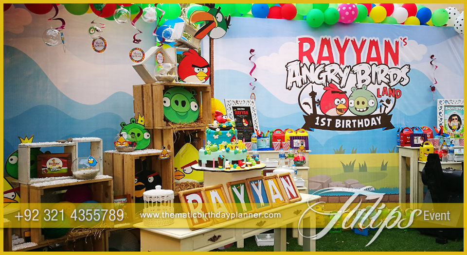 Angry birds party decoration tulips event management for Angry birds party decoration ideas