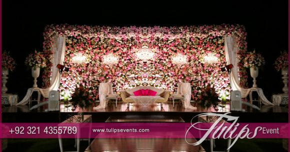 Pink Engagement Stage Design