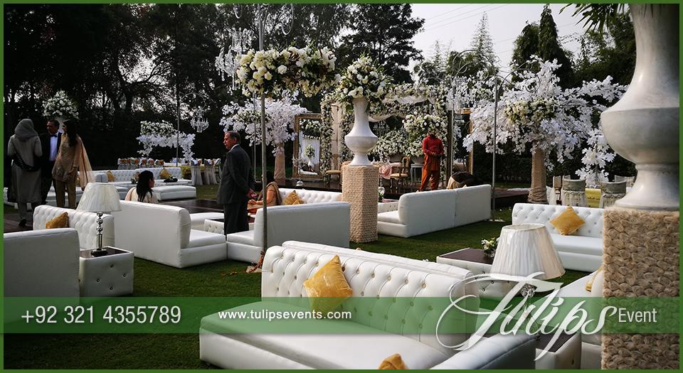 Outdoor Wedding Reception Daylight Decor Ideas In Pakistan 34 Tulips Event Management
