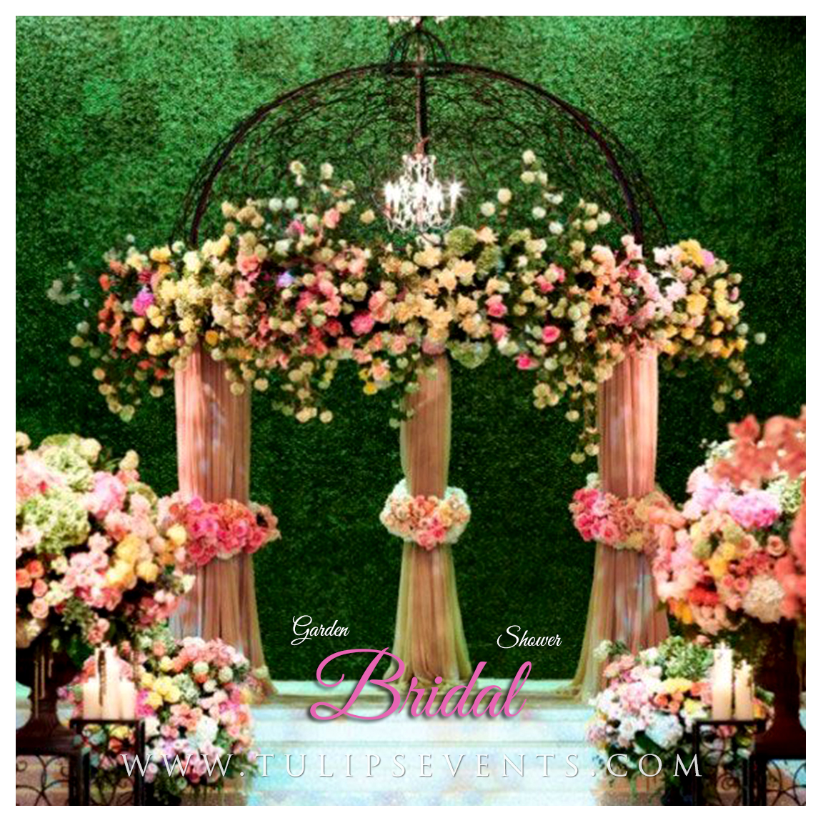 green garden theme bridal shower parties in pakistan