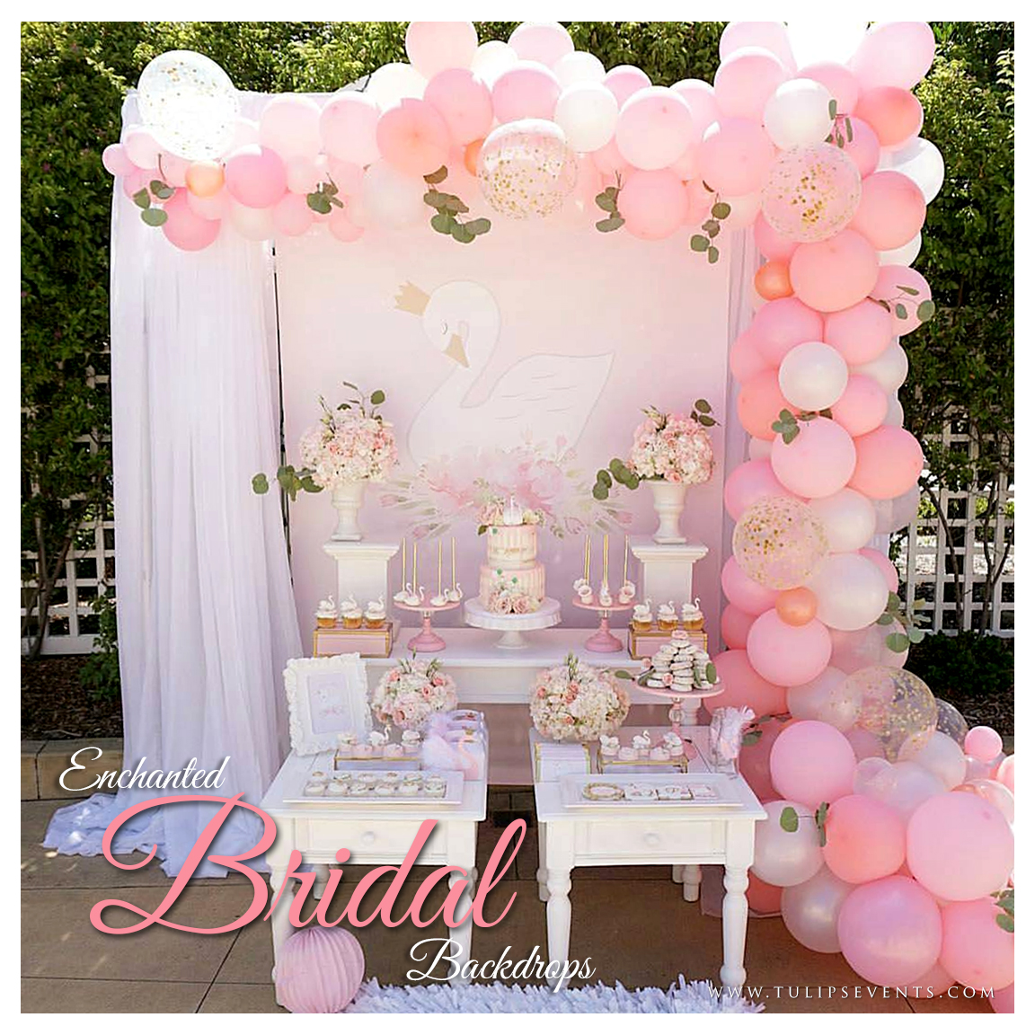 pink bridal shower party ideas in pakistan - tulips event management
