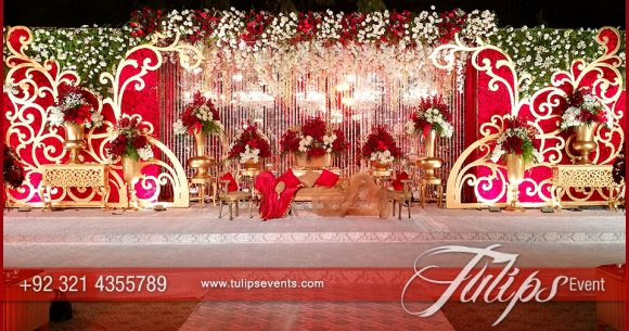 Stunning Red & Gold Weddings