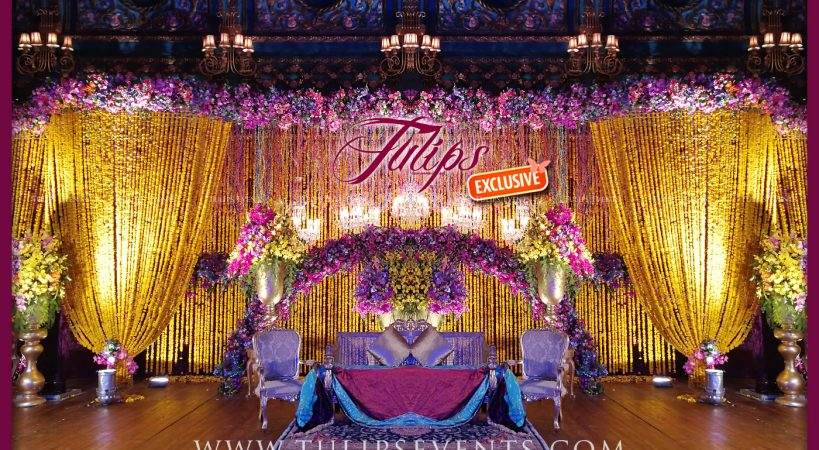 Marigold Plum Wedding Stage Tulips Event Management