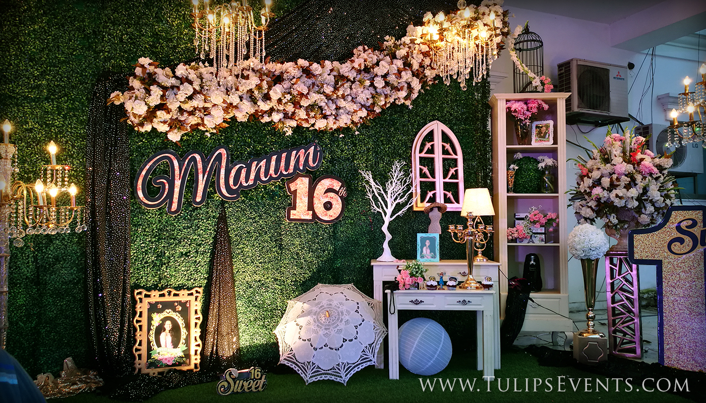 Sweet 16 outdoor theme party tulips event management - Outdoor anniversary party ideas ...