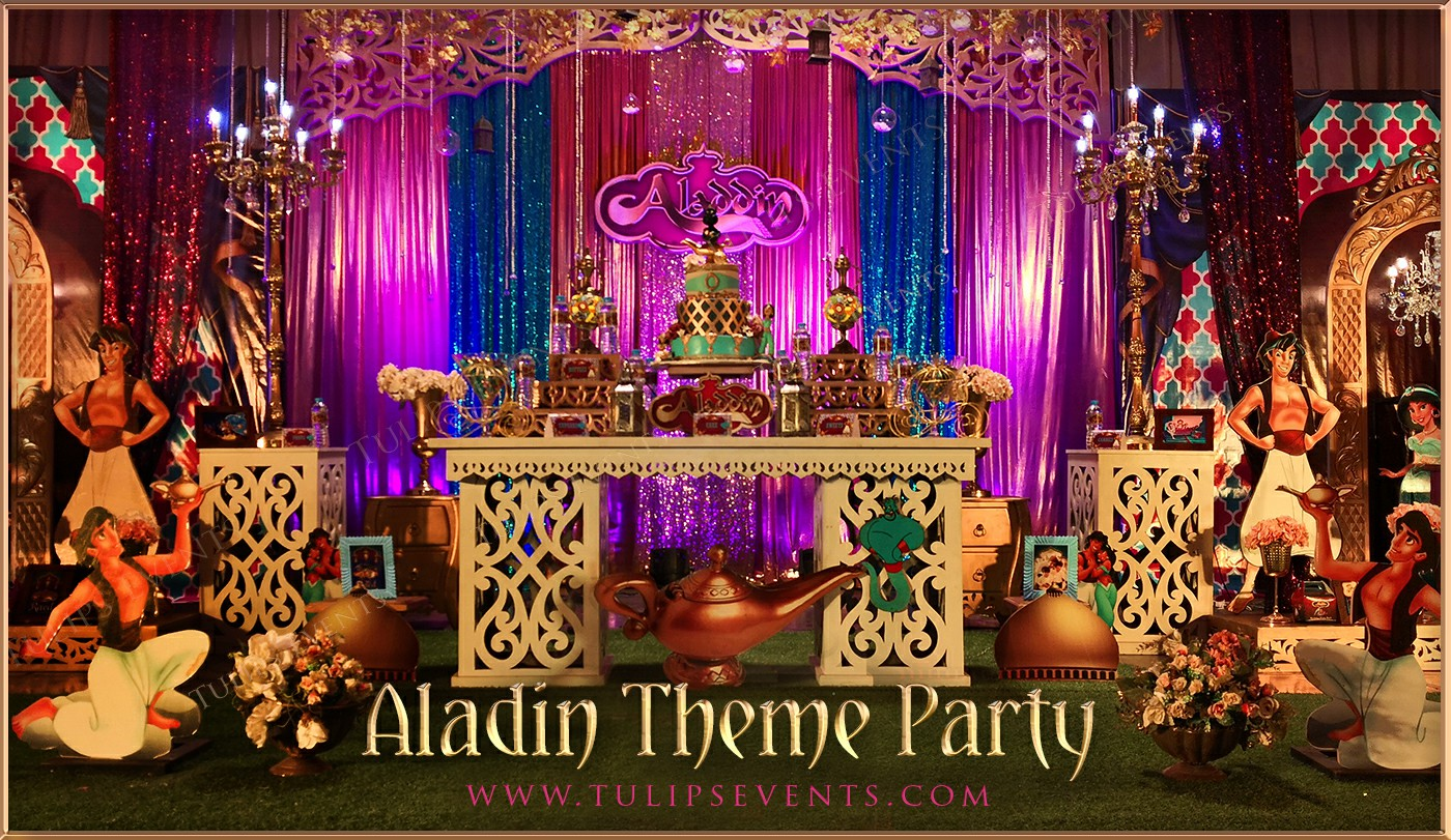 Aladdin Theme Party Decorations Tulips Event Management